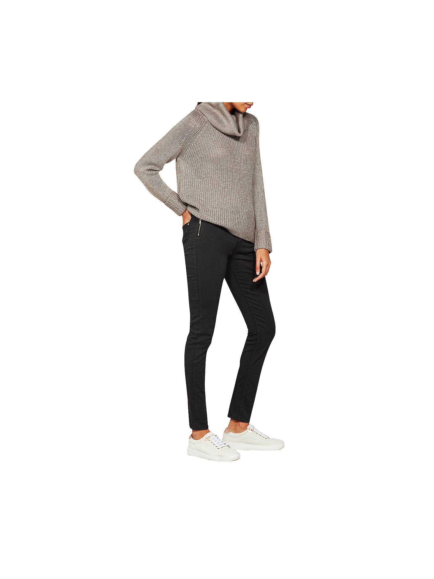 Buy Mint Velvet Orlando Skinny Jeans, Dark Grey, 10L Online at johnlewis.com