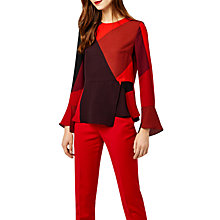 Buy Warehouse Cut Out Block Print Top, Red Online at johnlewis.com