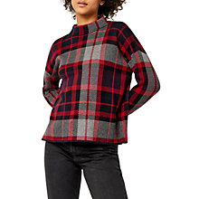 Buy Warehouse Pattern Check Jumper, Red/Grey Online at johnlewis.com