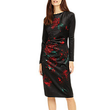 Buy Phase Eight Fenella Floral Print Dress, Black/Red Online at johnlewis.com