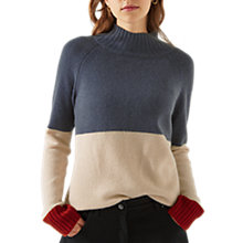 Buy Jigsaw Cashmere Colour Block Jumper, Slate/Multi Online at johnlewis.com