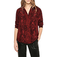 Buy Gerard Darel Silk Print Shirt, Red Online at johnlewis.com