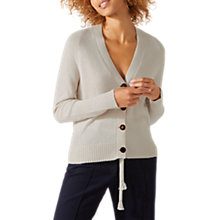 Buy Jigsaw Rib Back Cardigan, Stone Online at johnlewis.com