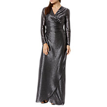 Buy Fenn Wright Manson Petite Lottie Metallic Dress, Silver Online at johnlewis.com