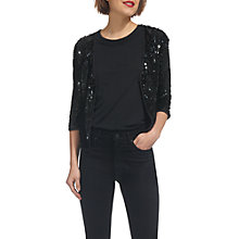 Buy Whistles Sequin Jacket, Black Online at johnlewis.com