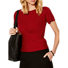Buy Karen Millen Tie Back Jersey Top, Red Online at johnlewis.com