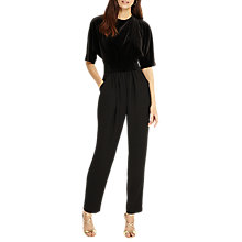Buy Phase Eight Neha Velvet Jumpsuit, Black Online at johnlewis.com