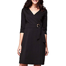 Buy Yumi Ponte Wrap Dress, Black Online at johnlewis.com