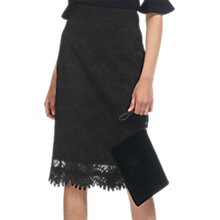 Buy Whistles Amalie Pencil Skirt, Black Online at johnlewis.com