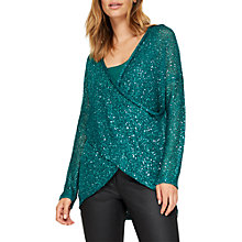 Buy Damsel in a dress Averie Seqin Knitted Jumper, Emerald Online at johnlewis.com