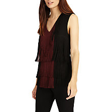 Buy Phase Eight Michela Fringe V-Neck Blouse Online at johnlewis.com