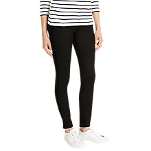 Buy Phase Eight Sian Piped Jeans, Black Online at johnlewis.com