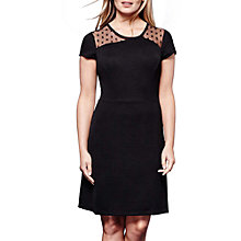 Buy Yumi Star Print Panel Dress, Black Online at johnlewis.com