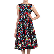 Buy Jolie Moi Floral Print Wrap Belted Dress, Black/Multi Online at johnlewis.com