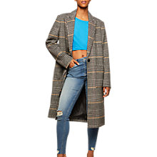 Buy Miss Selfridge Statement Check Midi Coat, Multi Online at johnlewis.com