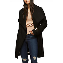 Buy Miss Selfridge Belted Wrap Coat, Black Online at johnlewis.com