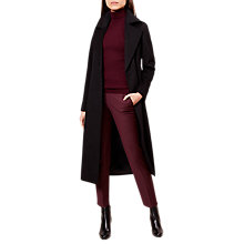 Buy Hobbs Lottie Long Tailored Coat, Black Online at johnlewis.com