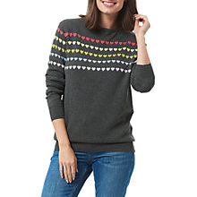 Buy Sugarhill Boutique Rainbow Hearts Jumper, Charcoal Online at johnlewis.com