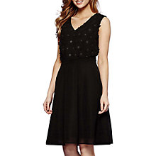 Buy Yumi 3D Embellished Floral Dress, Black Online at johnlewis.com