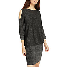 Buy Phase Eight Liane Shimmer Cold Shoulder Dress, Grey Online at johnlewis.com