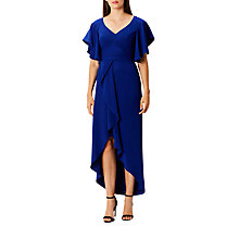 Buy Coast Saph Frill Maxi Dress, Blue Online at johnlewis.com