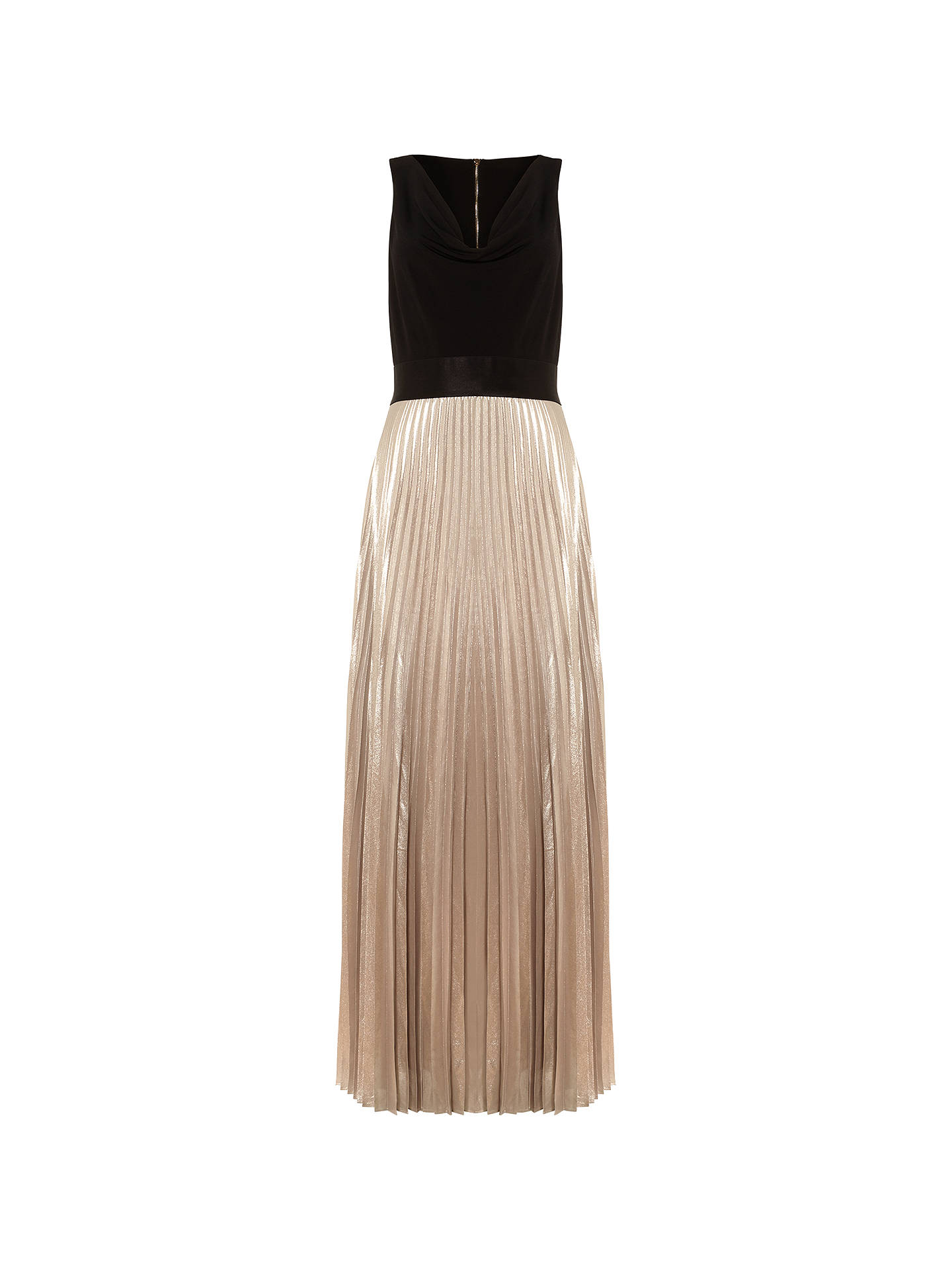 f177ba5ecb Buy Damsel in a Dress Nita Pleated Maxi Dress, Black/Nude, 16 Online ...