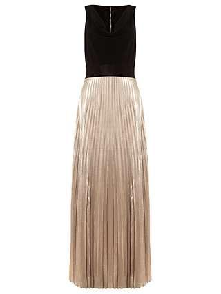 Damsel in a Dress Nita Pleated Maxi Dress, Black/Nude