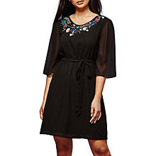 Buy Yumi Botanical Embroidered Dress, Black Online at johnlewis.com