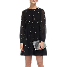Buy Whistles Aria Star Embroidered Dress, Black Online at johnlewis.com