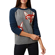 Buy Hobbs Emilia Sweater, Charcoal/Teal Online at johnlewis.com
