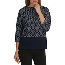 Buy Betty Barclay Three Quarter Sleeve Jumper, Dark Blue/Cream Online at johnlewis.com