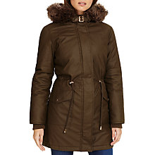 Buy Phase Eight Penny Parka Coat, Khaki Online at johnlewis.com