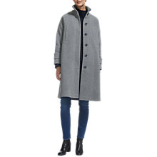 Buy Whistles Rib Funnel Neck Coat, Grey Online at johnlewis.com