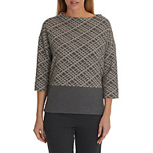 Buy Betty Barclay Three Quarter Sleeve Jumper, Grey/Natural Online at johnlewis.com