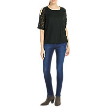 Buy Phase Eight Saskie Square Burnout Top, Pine Online at johnlewis.com