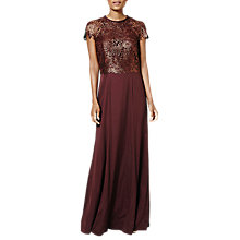 Buy Phase Eight Nala Full Length Dress, Merlot Online at johnlewis.com