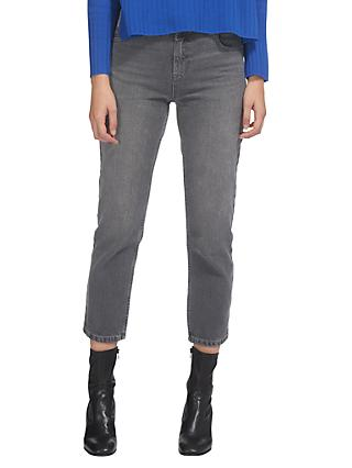 Whistles Straight Leg Jeans, Grey