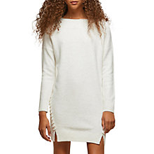 Buy Miss Selfridge Petite Jumper Dress, Ivory Online at johnlewis.com