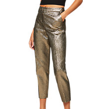 Buy Miss Selfridge Cigarette Trousers, Gold Online at johnlewis.com