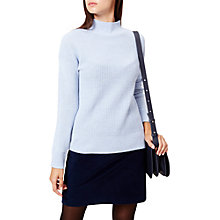 Buy Hobbs Francine Wool Blend Jumper, Island Blue Online at johnlewis.com