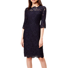 Buy Hobbs Vanessa Dress, Navy Online at johnlewis.com