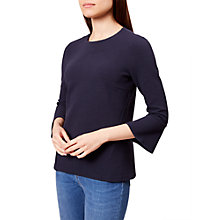Buy Hobbs Tilly Ottoman Top, Navy Online at johnlewis.com