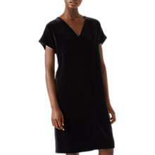 Buy Jigsaw Velvet Constance Dress, Navy Online at johnlewis.com