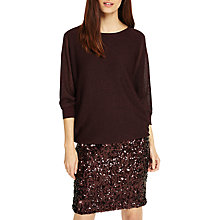 Buy Phase Eight Geonna Sequin Skirt Dress, Port Online at johnlewis.com