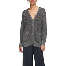 Buy Whistles Sparkle Knit Cardigan, Silver Online at johnlewis.com