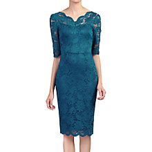 Buy Jolie Moi Lace Bodycon Dress, Petrol Blue Online at johnlewis.com
