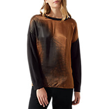 Buy Jigsaw Silk Front Spiral Jumper, Oyster Online at johnlewis.com