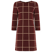 Buy Phase Eight Check Ponte Tunic Dress, Merlot Online at johnlewis.com