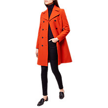 Buy Hobbs Ginnie Coat, Orange Online at johnlewis.com