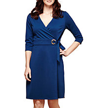 Buy Yumi Wrap Ponte Eyelet Dress, Teal Online at johnlewis.com